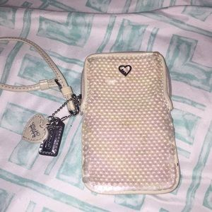 Coach Sequin Wristlet